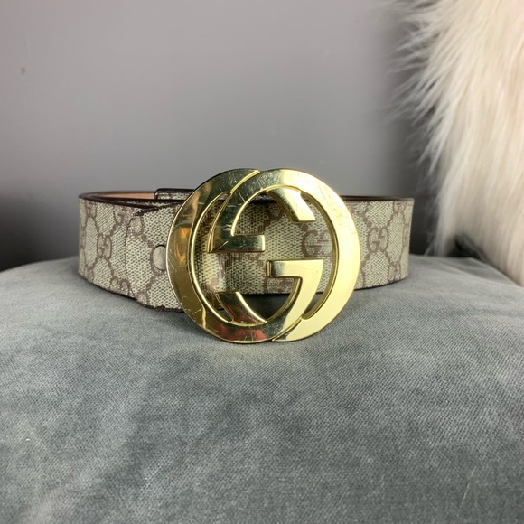 58530ca3e Gucci Accessories - Authentic Gucci GG supreme belt with G buckle 105